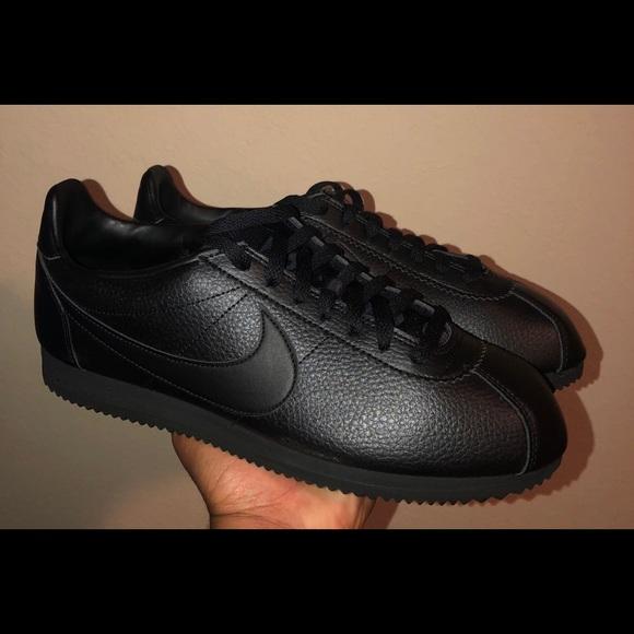 timeless design 0bbd7 019d6 Nike Classic Cortez Leather triple black men s 11